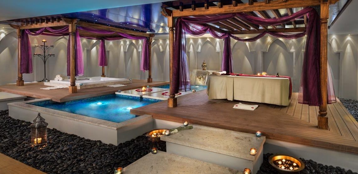 The luxurious spa
