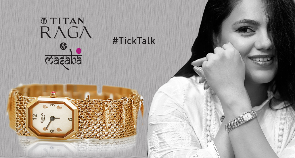 Titan-Raga-collaborates-with-Masaba-Gupta-ticktalk-